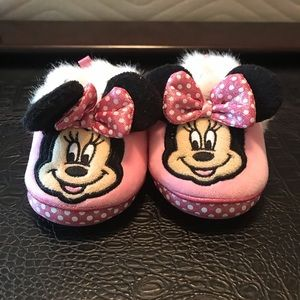 Toddler Girls Minnie Mouse Slippers